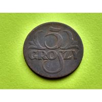 Польша. 5 грошей 1923.