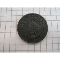 Новая шотландия 1 цент 1864г.