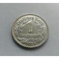 "Германия, 1 рейхсмарка 1939 год, монетный двор: ""D"" - Мюнхен"
