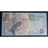 Суринам. 5 гульден 2000 UNC