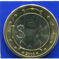 Острова Кука 1 доллар 2010 , Тангароа ( Божество ) , биметалл , UNC