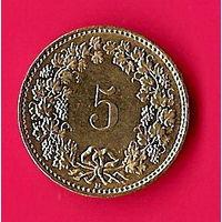 38-31 Швейцария, 5 раппенов 1996 г.