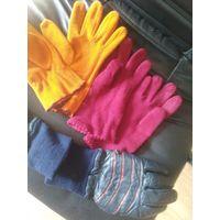 Шапки шарфы перчатки на девочку 7-9 лет
