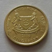 5 центов, Сингапур 2014 г., AU