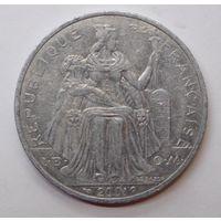 Французская Полинезия 5 франков 2001 г