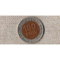 Руанда 100 франков 2007/биметалл(Bh)