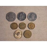 Лот из 8 монет Танзании (Танзанийские шиллинги)
