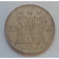 Чехословакия, 20 крона 1934 год