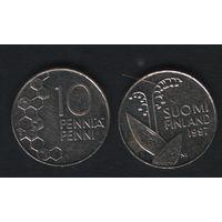 Финляндия km65 10 пенни 1997 год (M) (f33)(b04)n*