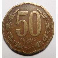 Чили 50 песо 1987 г