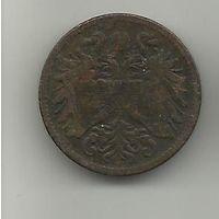 2 хеллер 1897 Австро-Венгрия