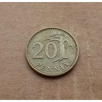 Финляндия, 20 пенни 1976 г.