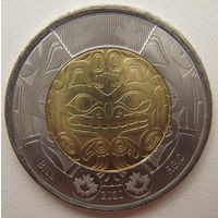Канада 2 доллара 2020 г. 100 лет со дня рождения Билла Рида