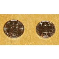 Украина 2018 компл 2 монеты  1, 2 гривни UNC