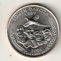 США квотер 2006 штат Южная Дакота