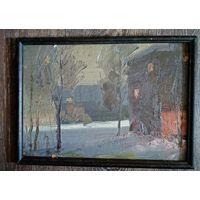"""Картина Леонарда Шиленкова: """"ночной этюд"""". 1990г. Распродажа!!!"""