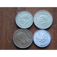 Четыре монеты за 1 рубль 17