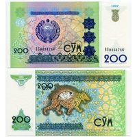 Узбекистан. 200 сум (образца 1997 года, P80, UNC) [серия BG]