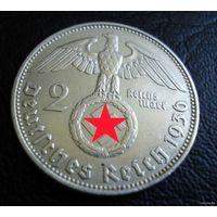 Германия. 2 марки 1936 D. Нечастая. - 2