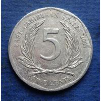 Карибы (Карибские острова) 5 центов 2004