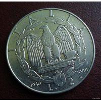 Италия. 2 лиры 1940 г.