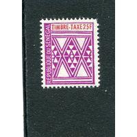 Сенегал. Геометрический орнамент. Марка почтового сбора (концовка серии)