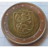 Латвия 2 евро, 2017 Исторические области Латвии - Латгалия    ( 3-9-4 )