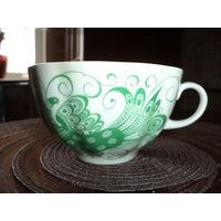 Красивые фарфоровые чайные чашки. Винтаж, ЛФЗ.