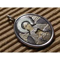Иконка образок -- Святой ангел хранитель..Серебро!