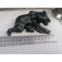 Статуэтка медведь Прес - Папье, Касли, чугун