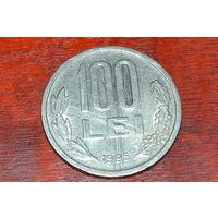 100 леев 1995 Румыния КМ# 111 никелевое покрытие