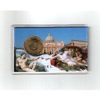 Ватикан 50 евроцентов 2013 г. (упакованы в блистер)
