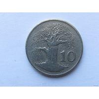 10 центов 1980 года. Зимбабве