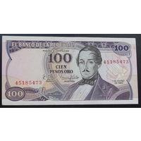 Колумбия. 100 песо 1980 AU
