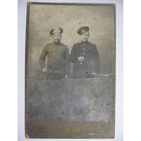 Старинная фотография Два бойца
