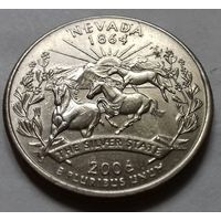 25 центов, квотер США, штат Невада, P D