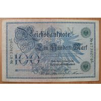 Германия (P34) - 1908 - 100 Марок - серия L (зеленая печать)