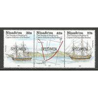 Ниуафооу. 200 лет картам капитана Эдвардса. 1991г. Mi#188-90.