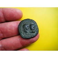 Гордиан 3й и Транквиллина 241 г. н. э. Монета выпущена в день бракосочетания.РЕДКАЯ RR!!!
