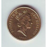 Новая Зеландия. 1 доллар 1990 г.