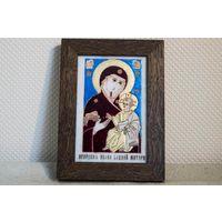 Икона Иверской Божией Матери. Натуральный камень. Икона Богоматери Иверской