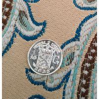 1/10 гульдена серебро Голландская Индия 1938