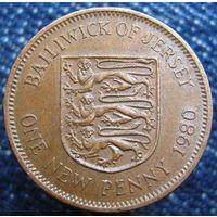 W: Джерси 1 новый пенни 1980 (629)