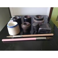 Чернильницы, перьевые ручки, одним лотом, цена за все, распродажа коллекции
