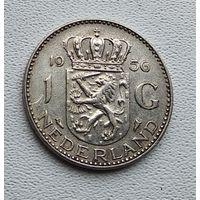 Нидерланды 1 гульден, 1956 2-5-10