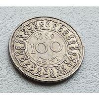 Суринам 100 центов, 1989 1-4-37