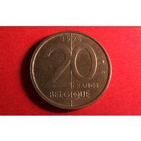 20 франков 1996 - BELGIQUE. Бельгия.