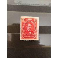 1907 Гондурас президент самая дорогая марка в серии (4-5) хорошая сохранность