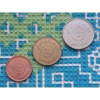 Ирак набор монет 25, 50, 100 филсоф. UNC. Карта Ирака. Персия. Ефрат.