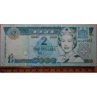 2 доллара 2002 г. Фиджи